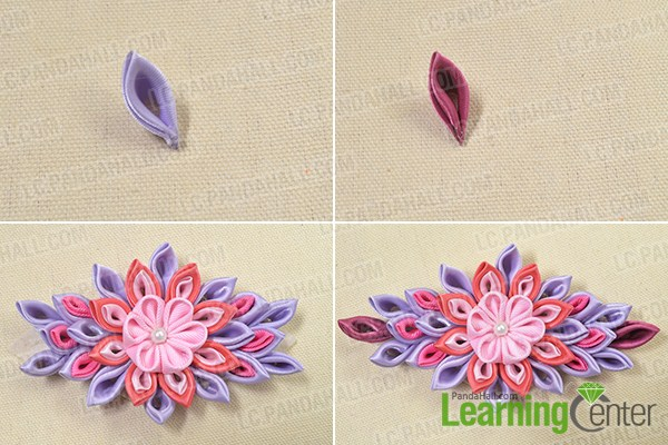 Tutorial On How To Make A Flower Ribbon Headband For Girls