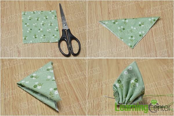 make a fabric flower