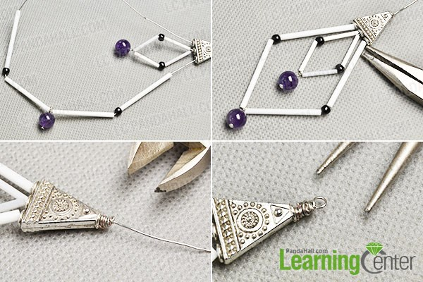 make the third part of the Tibetan bugle and seed beads earrings
