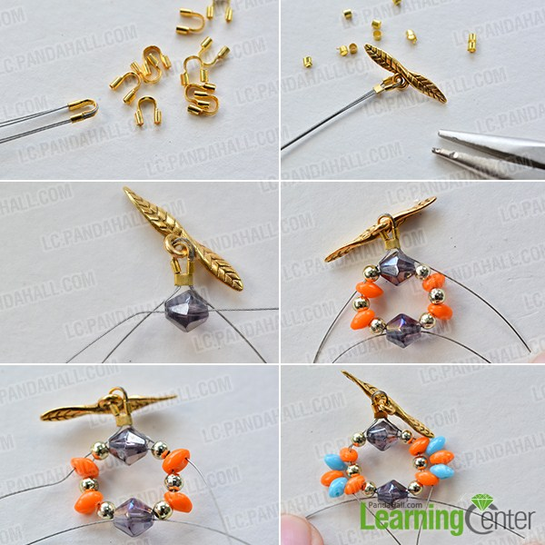 make the first part of the 2-hole seed bead flower bracelet