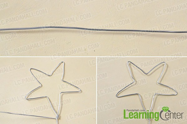 make a star with aluminum wire for the star magic wand