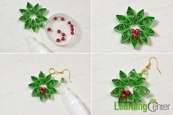 Add red pearl ornaments
