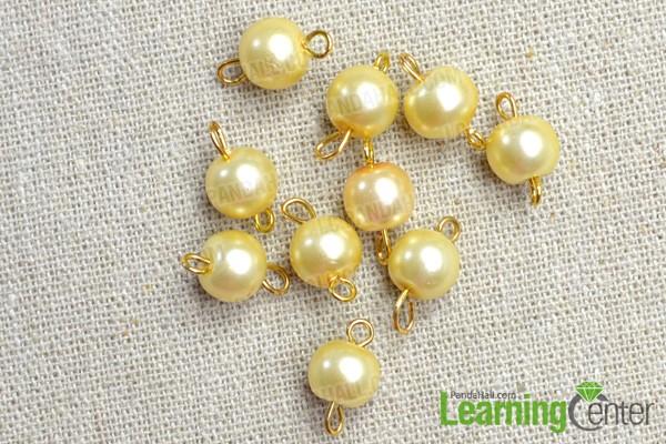 finish making 10 bead links
