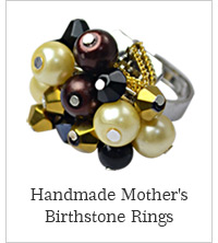 Handmade Mother's Birthstone Rings