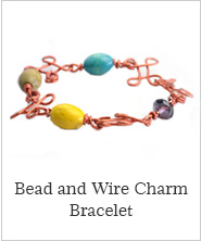 Bead and Wire CharmBracelet