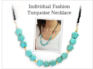 Individual Fashion Turquoise Necklace