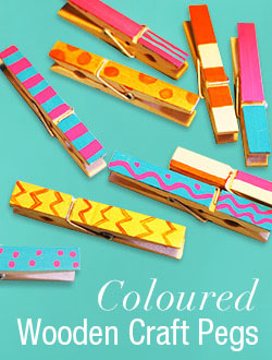 Coloured Wooden Pegs