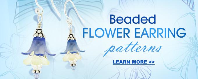 beaded flower earring patterns