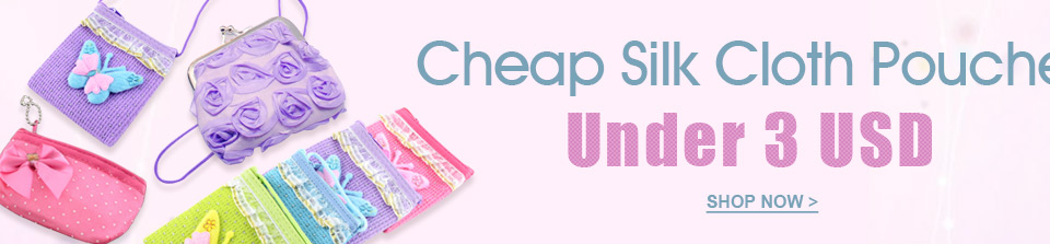 Cheap Silk Cloth Pouches
