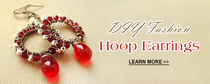 DIY Fashion Hoop Earrings