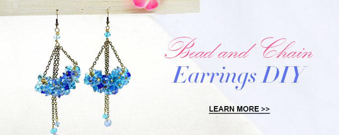 Bead and Chain Earrings