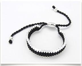 Fashion Friendship Bracelets Handmade Bracelet Nylon Thread With Alloy Beads