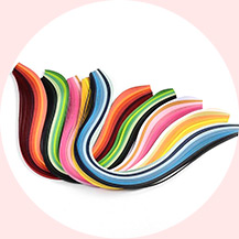 6 Colors Quilling Paper Strips, Gradual Color, Mixed Color, 390x3mm; about 120strips/bag, 20strips/color