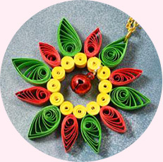 How to Make Quilling Paper Flower Pendent Necklace for Kids