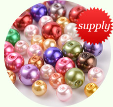 Glass Pearl Beads Strands, Pearlized, Round, White, Size: about 4mm in diameter, hole: 1mm