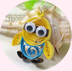 How to Make Quilling Minion Pendant Necklace for Kids