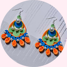 Detailed Pandahall Tutorial on Making a Pair of Quilling Paper Flower Earrings