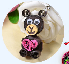 How to Make Easy Keychains with Quilling Bear