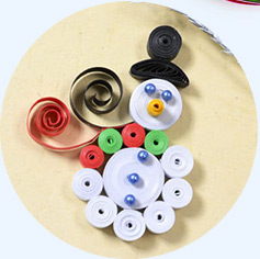 How to Make a Christmas Paper Quilling Snowman Craft