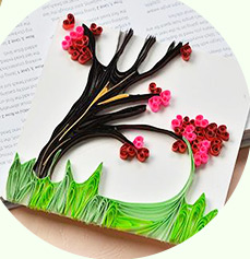 How to Make a Handmade Quilling Paper Tree Greeting Card at Home