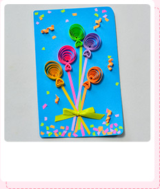 How Do You Make a Colorful Quilling Paper Balloon Blessing Card for Mother's Day