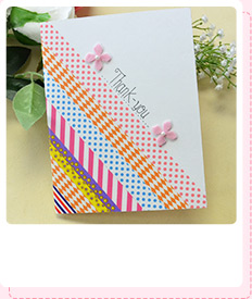 How to Make an Easy Scrapbook Tape Thank-you Card for Mother's Day