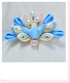 Free Instructions on How to Make Japanese Flower Hair Ornaments with Pearl Beads