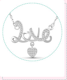 "Sterling Silver ""Love"" Pendant Necklace"