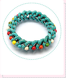 Synthetic Turquoise Stretch Bracelets