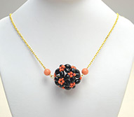 Beaded Necklace Designs - How to Make a Beaded Ball Pendant Necklace for Halloween