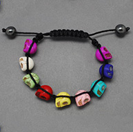 Fashion Shamballa Bracelets for Halloween, Resin Beads Bracelets, Colorful, 50mm