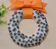 Pandahall Craft Tutorial - How to Make a Halloween Spider Wreath