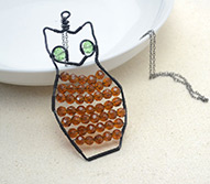 Wire Wrapped Pendant Project - Wire Wrap an Owl Pendant in Rapid Way