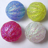 Mixed Glitter Style Acrylic Pumpkin Beads for Halloween, Size: about 22mm in diameter, Hole: 1.5mm