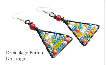 Dreieckige Perlen Ohrringe