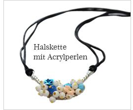Halskette mit Acrylperlen