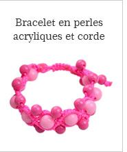 Bracelet en perles acryliques et corde