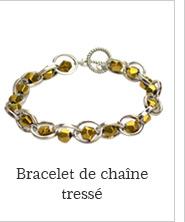 Bracelet de chaîne tressé