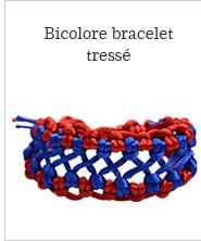 Bicolore bracelet tressé