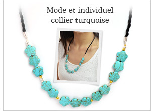 Mode et individuel collier turquoise