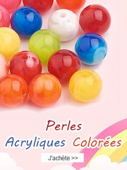 Perles Acryliques Colorées