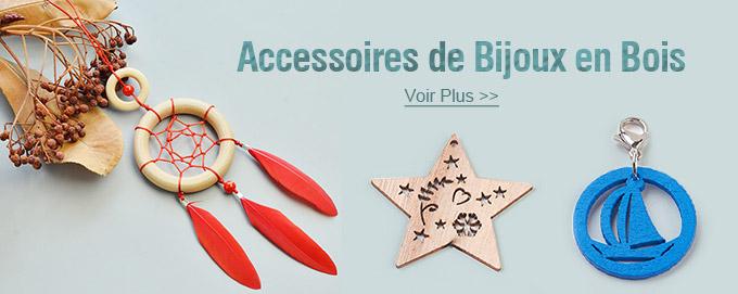 Accessoires de Bijoux en Bois